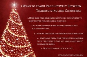 How to Teach Productively Between Thanksgiving and Christmas