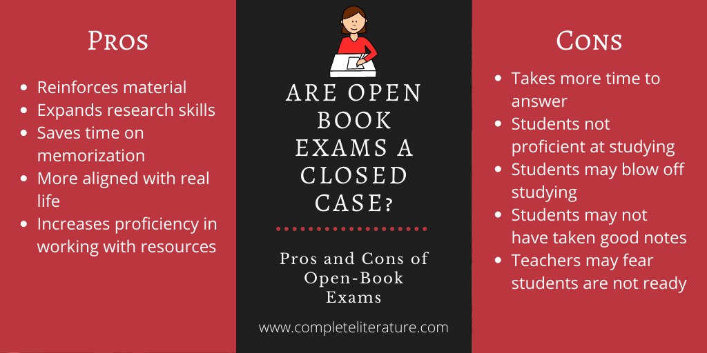pros and cons of open book exams