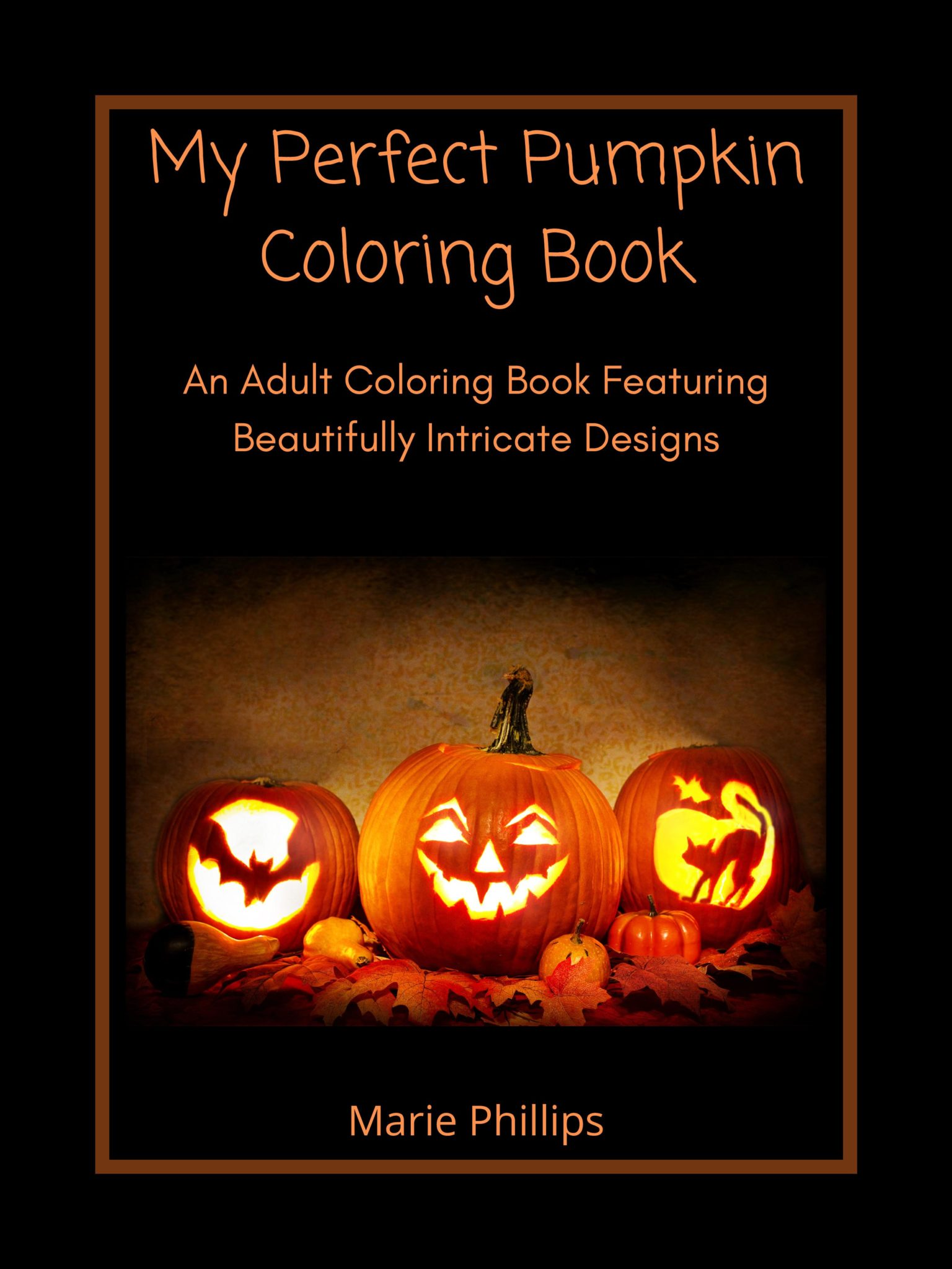Fall Harvest Pumpkin coloring book adults